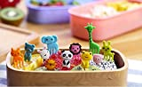 11 inch induction disk - 10pcs/bag New Animal Farm mini cartoon fruit fork sign resin fruit toothpick bento lunch for children decorative plastic sign