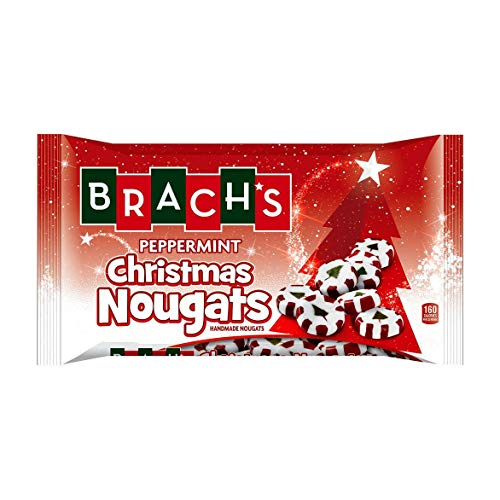 Brach's (1) bag Peppermint Christmas Nougats - Handmade Holiday Nougat Candy with Christmas Tree Design - Net Wt. 8.5 oz (Christmas Nougats)