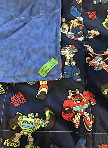 Weighted Blanket, twin size,ready to ship, transformers, large 12 lbs, ()