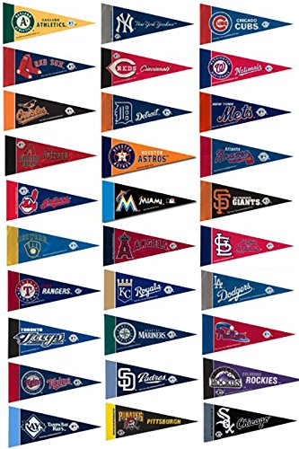MLB Mini Pennant Set, All MLB Teams, NEW (Team Pennants Mlb)