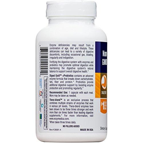 Enzymedica - Digest Gold + Probiotics, Advanced Digestive Enzymes + Probiotics for Essential Digest Care, 180 Capsules (FFP) by Enzymedica (Image #7)