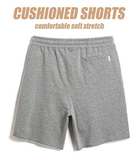 26a2410ea1 MaaMgic Men's Casual Classic Shorts Cotton 9' Fleece Shorts Athletic ...