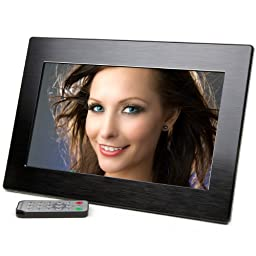 Micca 10-Inch Wide Screen High Resolution Digital Photo Frame with Auto On/Off Timer (Black)