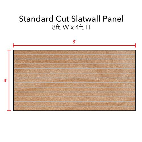 Horizontal Slatwall Panels with Metal Inserts in Maple 4 Feet H x 8 Feet W by Slatwall Panel (Image #2)