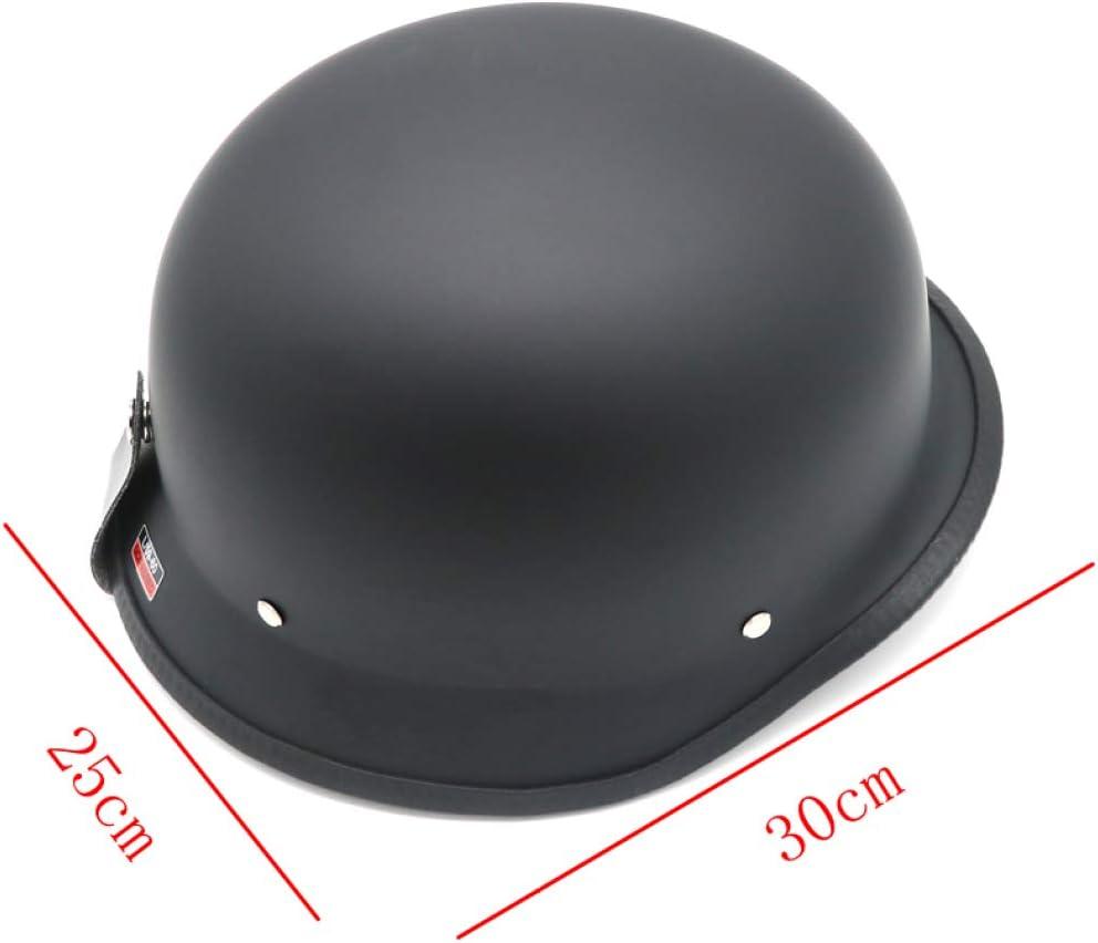 Universal Motorcycle Helmet Half Face Helmet Vintage Retro German Chopper Cruiser Helmets for Harley Biking Helmet Black
