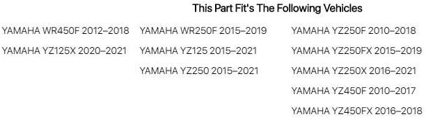 Yamaha YZ250 2015-2018 Fits Acerbis Front Fender White