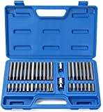 Neiko® 10280B Combination Hex, Torx, and XZN Triple Square Driver Socket Bit Set | 40-Piece Set