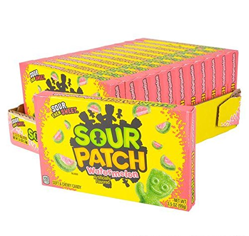 SOUR PATCH WATERMELON THEATER BOX CANDY 12PC/CASE, Case of 9 by DollarItemDirect (Image #1)