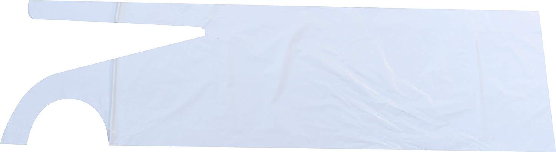 100 pcs PE-delantales Plus varios tama/ños y de silicona para Medi-Inn