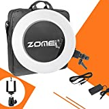 ZOMEI Camera Photo/Video Outer 480 Piece LED SMD Ring Light 5500K Dimmable Ring Video Light With Universal Phone Clamp Ball Head Hot Shoe Mount Adapter, 50W