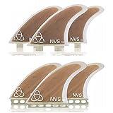 Naked Viking Surf: Large GL Thruster Surfboard Fins (Set of 3 Fins) FCS & Futures Compatible