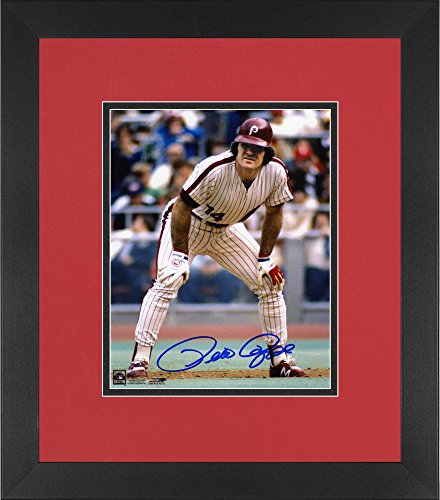 Pete Rose Philadelphia Phillies Framed Autographed 8'' x 10'' Hands on Knee Photograph - Fanatics Authentic Certified