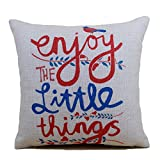 ChezMax Love Heart Printing Cushion Covers Throw Pillow Covers Soft Linen Rectangular Throw Pillow Cases Pillowslip