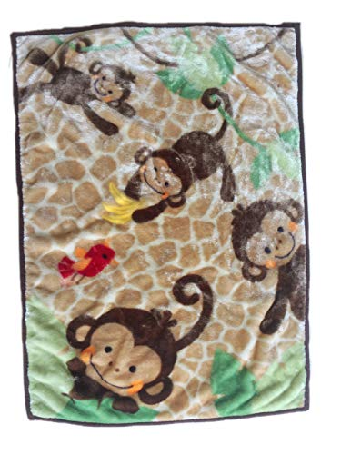 Danica Super Cozy Plush Baby Blanket, Cute Animal Pattern, 43