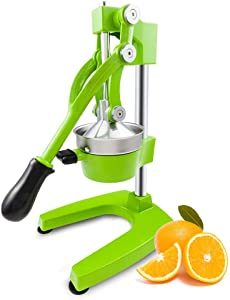 Manual Juicer, Heavy Duty Commercial Hand Press Machine, Juicer Squeezer Citrus Orange Lemon, Stainless Steel Manual Juicer Press, Green