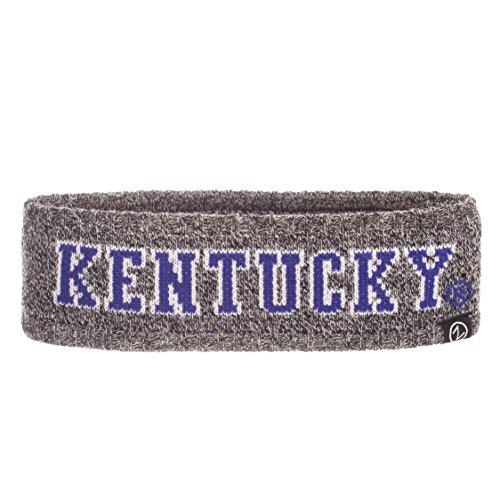 Zephyr NCAA Kentucky Wildcats Adult Women Halo Haze Knit Headband, Adjustable, Heathered Charcoal