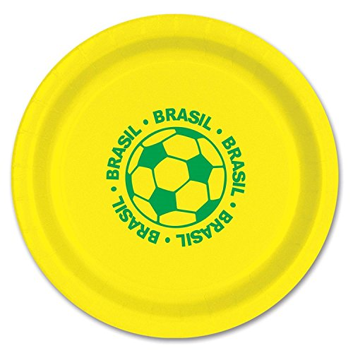 club-pack-of-96-green-and-yellow-disposable-brasil-soccer-ball-paper-party-dinner-plates-9