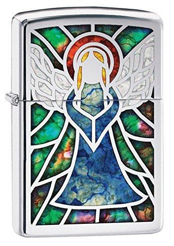 (Zippo Angel Fusion Pocket Lighter, High Polish Chrome)