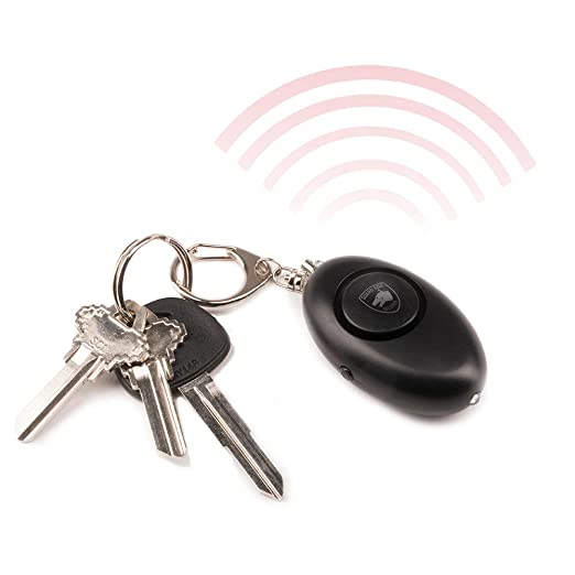 Guard Dog Security Personal Panic Alarm, Keychain, LED Light, 120 Decibels, Rubberized Body, Quick Pull Alarm