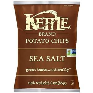 Kettle Brand Potato Chips Caddy, Sea Salt, 2-Ounce Bags, 6 Count