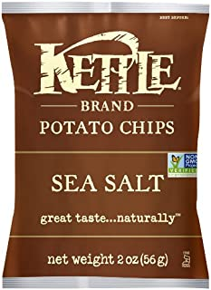 product image for Kettle Brand Potato Chips, Sea Salt, 2 Ounce Bags (Pack of 24)