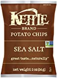 Kettle Brand Potato Chips, Sea Salt, 2-Ounce Bags (Pack of 24)