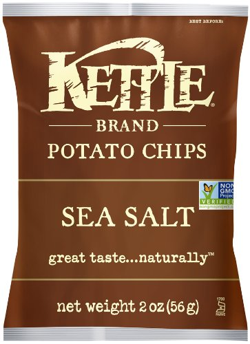 Kettle Brand Potato Chips, Sea Salt, 2-Ounce Bags (Pack of 24) (Kettle Chips 2 Ounce compare prices)