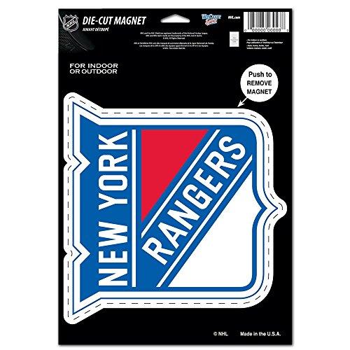 WinCraft NHL New York Rangers Die Cut Logo Magnet, 6.25