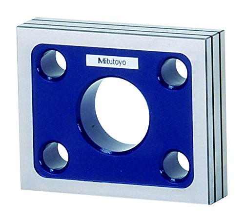 Image of Mitutoyo 311-111 High Precision Square, 90 mm Width x 110 mm Length x 25 mm Thickness Home Improvements