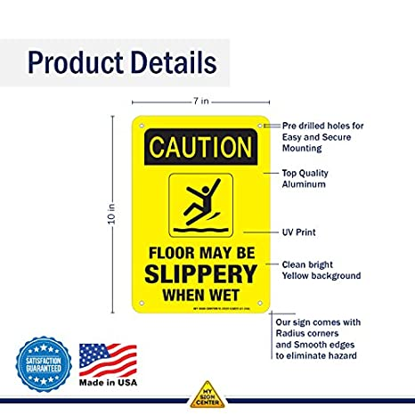 Amazon.com: Caution Planta puede ser Slippery When Wet ...