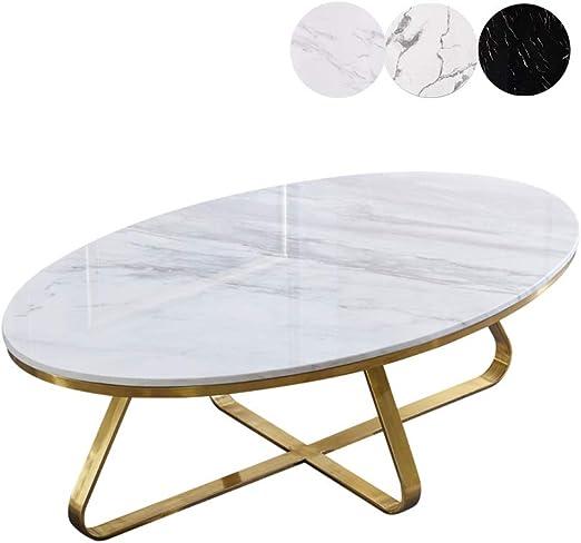 mesas de Centro Modernas Mesa de Centro de mármol Natural Blanco ...