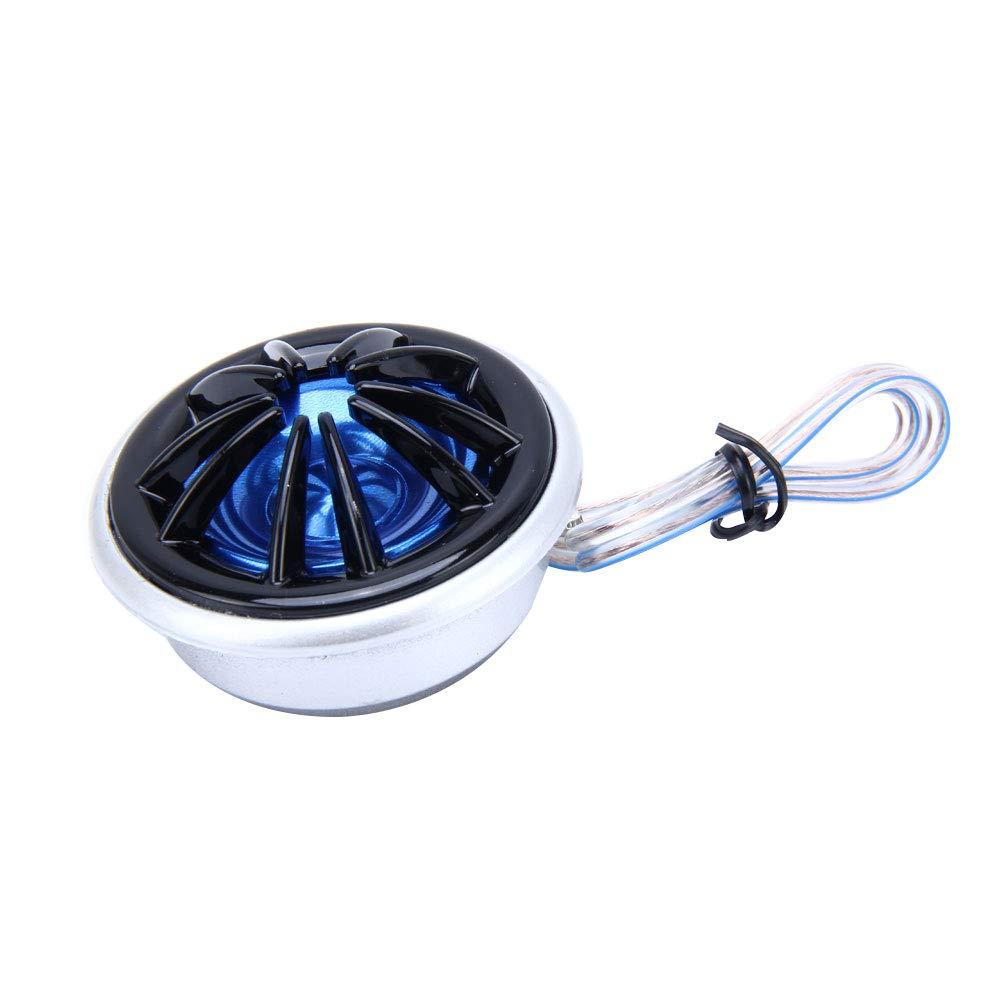 dulawei3 1 Pair 150W 12V Car Vehicle Dome Audio Treble Tweeter Loudspeaker Horn Speaker Black