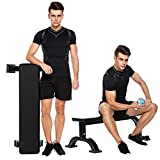 Flat Weight Bench Multi-Function for Weight Training and Ab Exercises Home Indoor Fitness Workout Equipment [US STOCK]