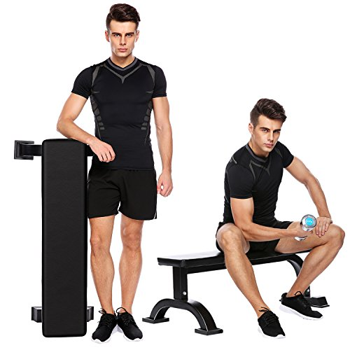 Flat Weight Bench Multi-Function for Weight Training and Ab Exercises Home Indoor Fitness Workout Equipment [US STOCK] by Oanon