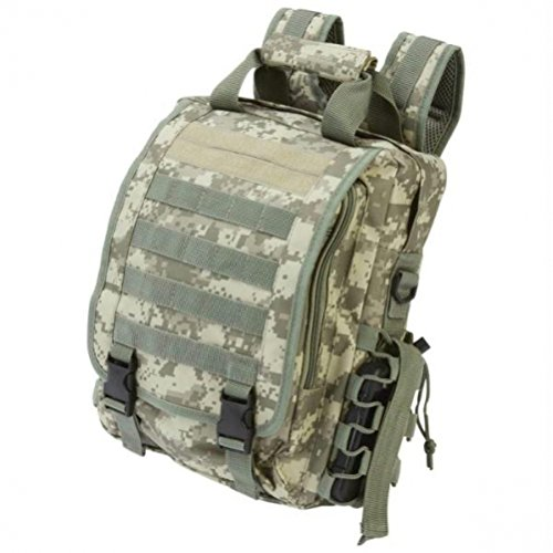 Extreme Pak Digital Camo Water-Resistant Heavy-Duty Tactical Backpack by B&F by B&F