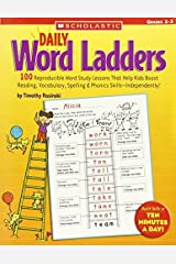 Daily Word Ladders: Grades 2–3: 100 Reproducible Word Study Lessons That Help Kids Boost Reading, Vocabulary, Spelling & Phonics Skills—Independently! by Timothy Rasinski(2005-10-01) Paperback Bunko