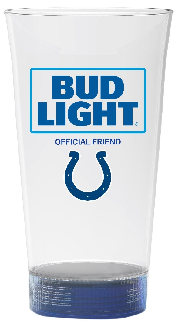 Bud Light Colts Touchdown Glass, Indianapolis Colts