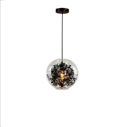 Nórdico moderno simple creativo hueco de vidrio bola tallada lámpara colgante de vidrio enlatado botella arte