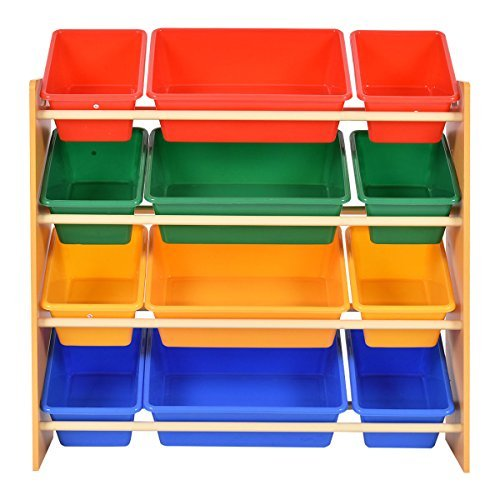 Toy Bin Organizer Kids Children Storage Box Playroom Bedroom Shelf Drawer by Lotus Analin (Image #2)