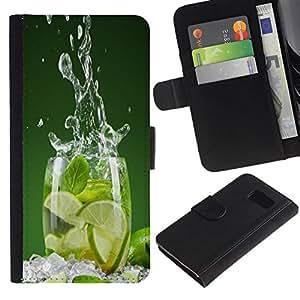 All Phone Most Case / Oferta Especial Cáscara Funda de cuero Monedero Cubierta de proteccion Caso / Wallet Case for Sony Xperia Z3 Compact // LIME SPLASH