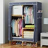 LaaLaa Portable Wardrobe Bedroom Furniture Cupboard Oxford cloth Wardrobe Detachable wood Frame Wardrobe Durable Clothing Storage Wardrobe Product size:160cm100cm45cm,B