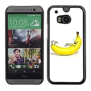 A-type Arte & diseño plástico duro Fundas Cover Cubre Hard Case Cover para All New HTC One (M8) ( Divertido plátano y calcetines Ilustración )