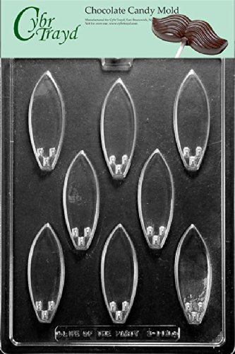 a81cb54ebf6ad4 Image Unavailable. Image not available for. Color  Cybrtrayd S113 Small  Surfboards Chocolate Candy Mold with Exclusive Cybrtrayd Copyrighted ...
