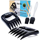 Ado Glo Bear Claw Meat Shredder - 2 Pack Sharp Meat Claws for Shredding, Handling & Carving Meat with 2 Pack Oil Brushes (Plastic)