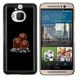 Qstar Arte & diseño plástico duro Fundas Cover Cubre Hard Case Cover para HTC One M9Plus M9+ M9 Plus (Meter Monster Marrón)