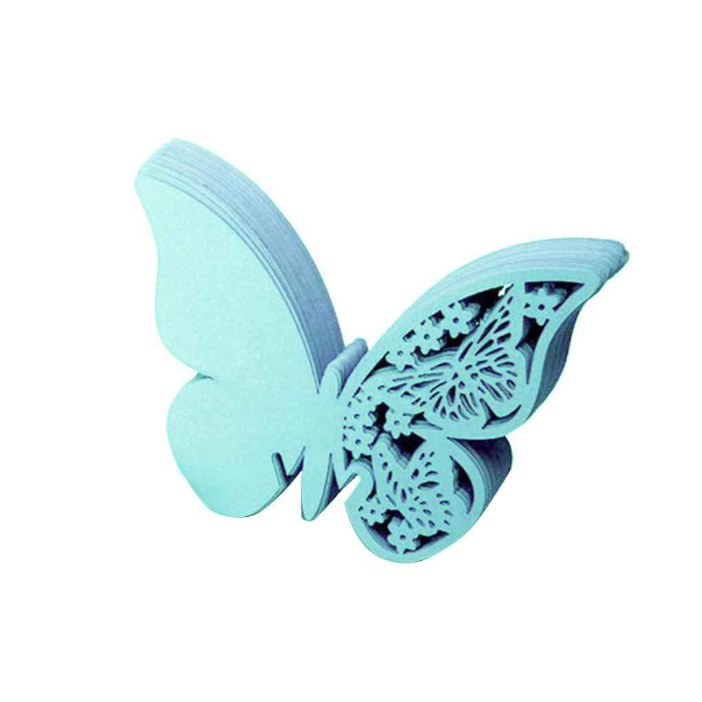 Set DIY della Farfalla della cavit/à della Tazza del Vino di Vetro di Carta Carta di Festa di Nozze Decorazioni domestiche Nome Segnaposto Zerama 50pcs