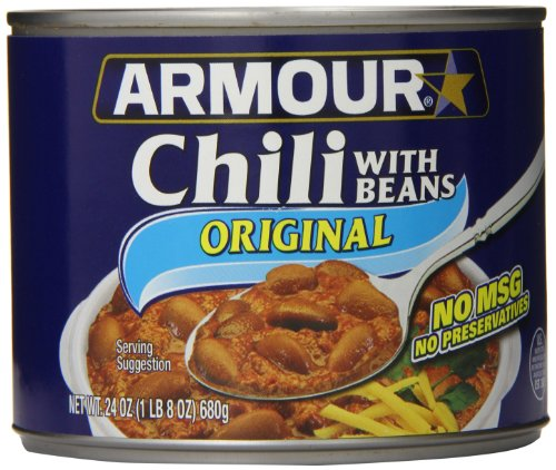 Armour Chili,  With Beans, 24 Ounce (Pack of 12)