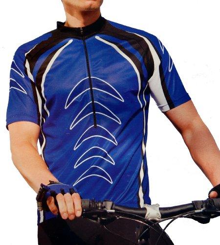 Men's Sublimated Print Race Cut Short-Sleeve Biking Cycling Jersey
