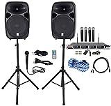Rockville Dual 15'' iphone/ipad/Android/Laptop/TV Youtube Karaoke Machine/System