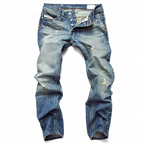 Robin Santiago Men'S Jeans Trousers Of Tide Restoring Ancient Ways Male Big Yards Punk Are Multi 38